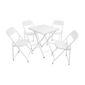 Jogo de Mesa e Cadeiras de Ferro